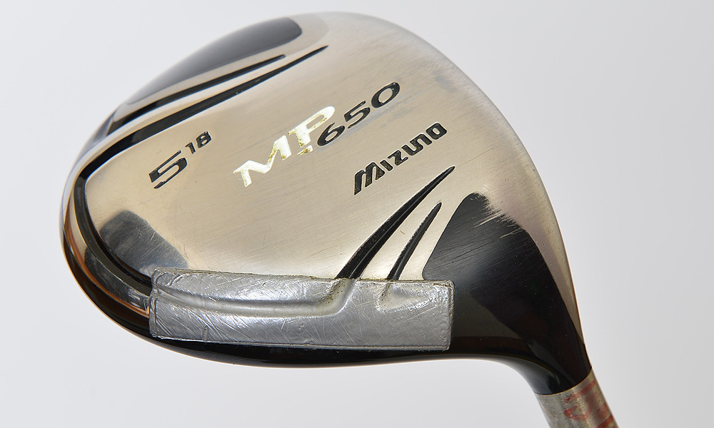 Here is Byrd's Mizuno MP-650 5-wood with a UST Mamiya ProForce V2 86X shaft.