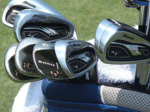 Charles Howell is playing Mizuno's new JPX-800 Pro irons.