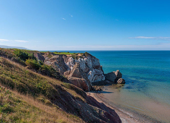 No. 16, Par three, 180 yardsOn a tour of Cabot Cliffs last summer, Matt Kuchar was left speechless by this stunner, which sits so precariously on the bluffs it seems prepared to tumble to the shore.