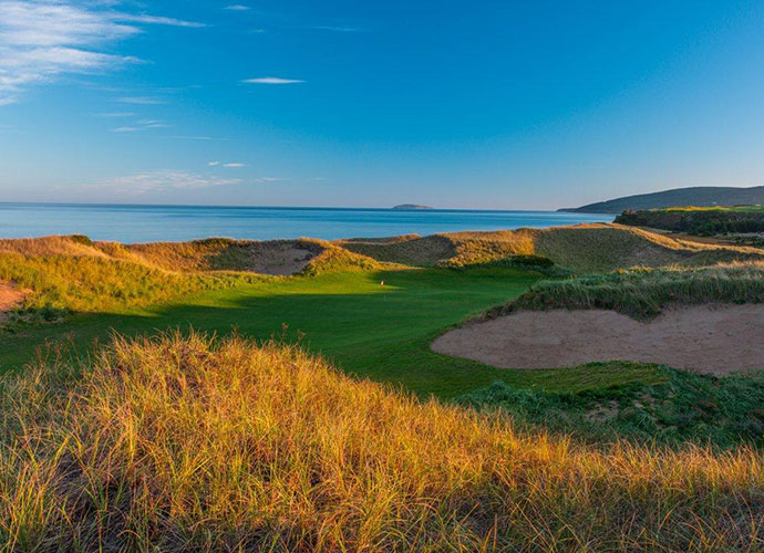No. 6, Par three, 180 yardsFrom the elevated tee, the ocean spreads in stunning view. But as you drop down toward the green, a massive putting surface that slopes front to back, you find yourself in a natural bowl, dwarfed by dunes. Within a single hole, there's a variety of looks.