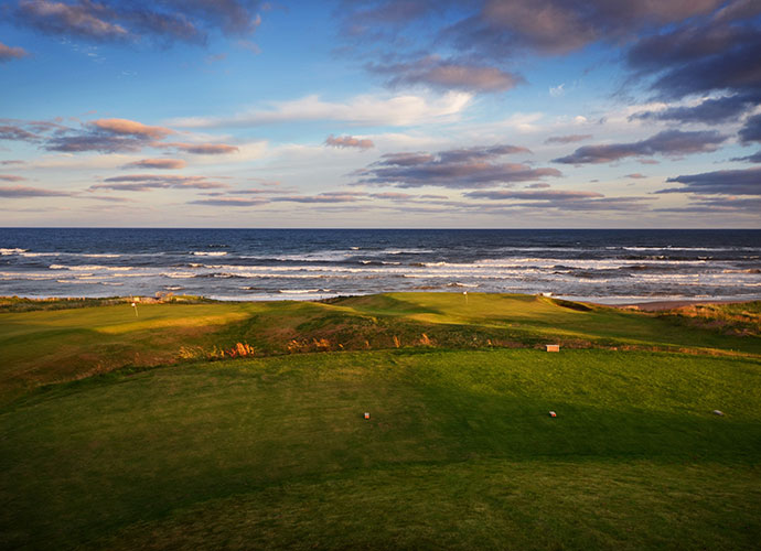 "26. Cabot Links, Inverness, Canada: Developers Ben Cowan-Dewar and Mike Keiser handed over a rolling plot of coastal Nova Scotia terrain to architect Rod Whitman and the result is Canada's first authentic links -- and a world ranking of 82. Firm, rumpled, fescue fairways, coastal breezes and endless views of the Gulf of St. Lawrence make it abundantly clear why Nova Scotia is the Latin name for ""New Scotland."""