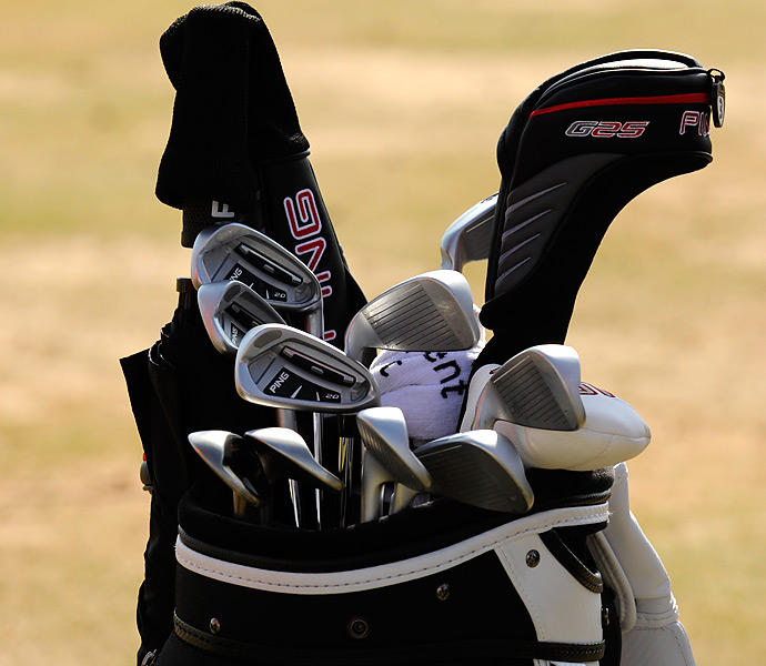 Former Open champion Mark Calcavecchia still plays Ping gear, including i20 irons.