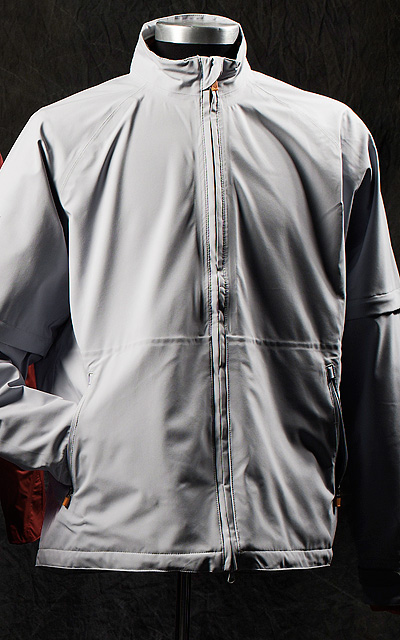 "Callaway Tour Authentic Technical                     This light, seam-sealed polyester jacket has removable sleeves, as well as an adjustable waistband, stretch cuffs, and ""gutters"" designed to funnel rain away from the hands.                      $290;callawaygolf.com"