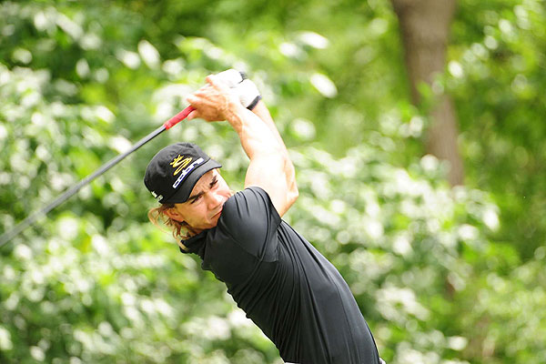 Remarkably, Camilo Villegas shot a second-round 66 which included a four-putt double bogey on the ninth hole.