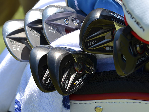 Camilo Villegas plays a customized set of TaylorMade's Burner 2.0 irons.