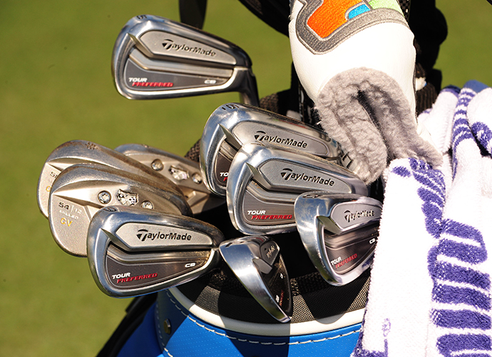 Camilo Villegas' TaylorMade Tour Preferred CB irons.