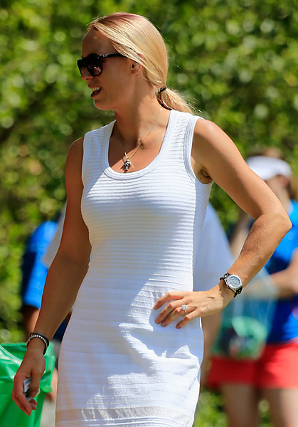 McIlroy's fiancee Caroline Wozniacki followed the round on Sunday.