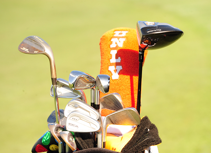 Chad Campbell shows his school pride with his UNLV head cover.