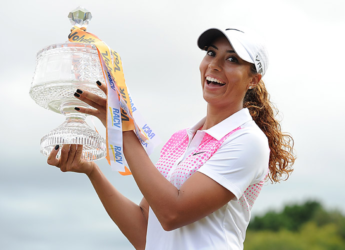 Cheyenne Woods won the Australian Ladies Masters at Royal Pines, beating Australian amateur Minjee Lee by two strokes.