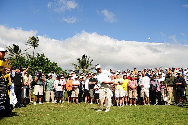 K.J. Choi's short game helped him avoid big numbers at Waialae Country Club. He won by three shots despite shooting one over par on Sunday.