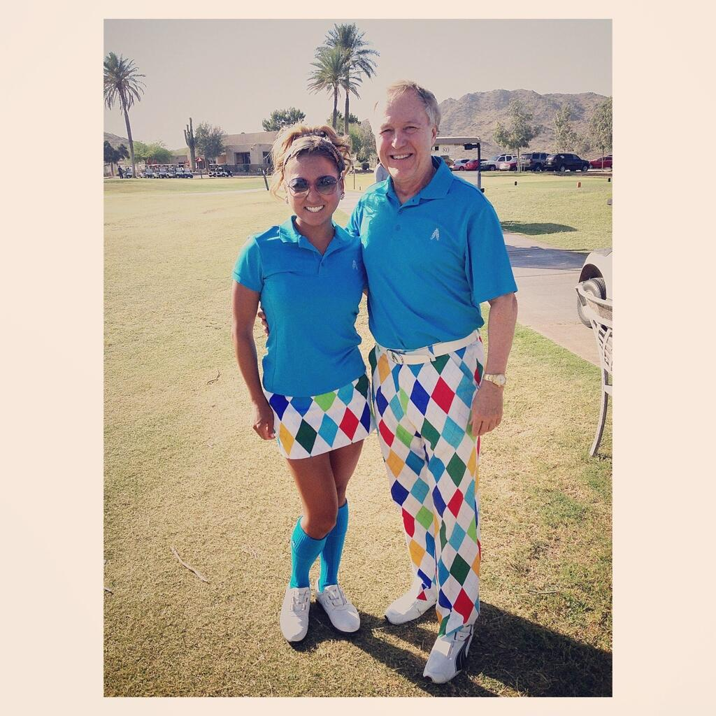 @ChristyYunGolf: Shout out to my Royal&Awesome rep for coming out to caddy and support! #blessed #golfapparelsponsor