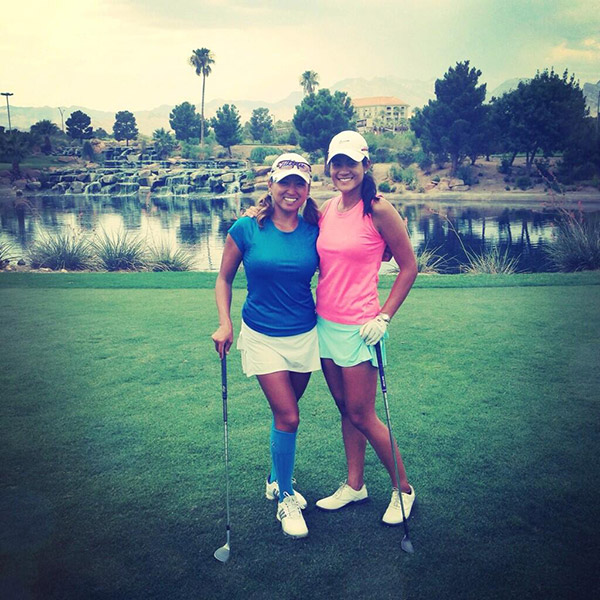 @ChristyYunGolf: Another amazing day on the course with my sister from another mister @CandraS_LuLuB #blessed #VegasLife