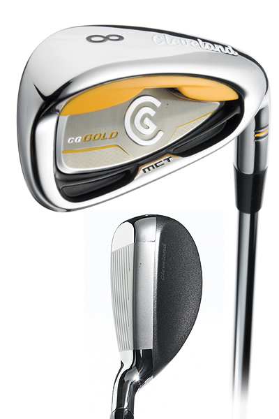 "Cleveland HiBore Gold Combo                     $599, steel; $699, graphite                     clevelandgolf.com                                          Set makeup: 3 (22°), 4 (25°) in HiBore                     hybrid, and CG Gold 5-iron to PW                                          • Hybrids: The iron-like silver                     topline guarantees hassle-free                     alignment. Its ""inverted crown""                     pushes weight low in the head to                     create easy takeoffs. A flatter                     leading edge and large effective                     hitting area combine to make it                     user-friendly from a variety of lies.                                          • Irons: The firm's ""Gelback""                     technology elicits a smooth, soft                     feel on solid shots and squelches                     nasty vibrations on less-than stellar                     contact. ""Micro-cavities""                     stiffen the topline to limit head                     distortion. A wide sole contributes                     to the club's overall helpful nature."