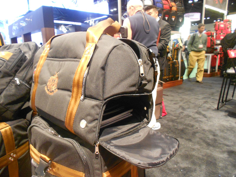 Club Glove's latest travel bag offers huge storage capacity in a carry-on size, and a bottom compartment (with ample room for laptop storage) with a removable floor. $399 on their website.
