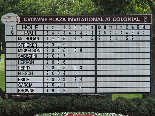 The list of players who have finished atop the leaderboard at Colonial is pretty impressive.