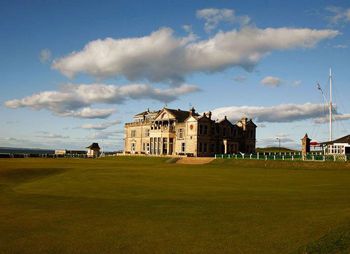 Stacy Lewis selected St. Andrews, where she won the Women's British Open in 2013 by two strokes over Na Yeon Choi and Hee Young Park.                                          Pictured: The 18th green and the clubhouse at the Old Course at St. Andrews.