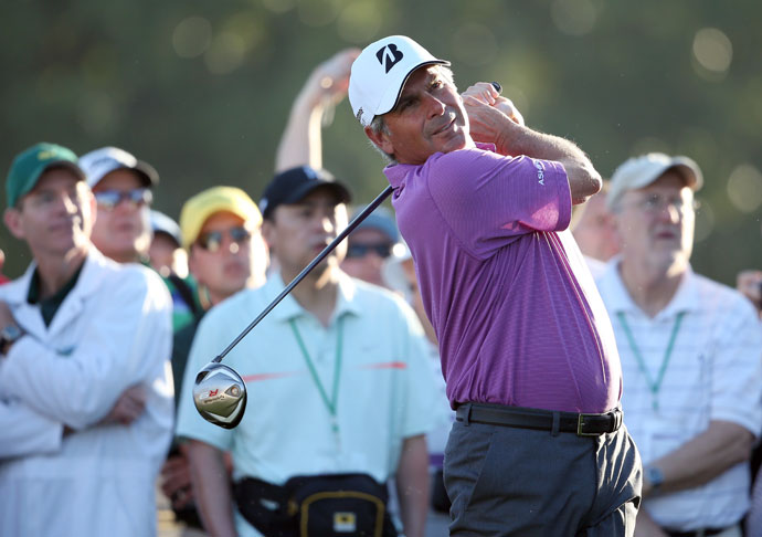 "Fred Couples                     Couples earned his nickname ""Boom Boom"" from the long drives that resulted from a seemingly effortless swing. The Hall-of-Famer won the 1992 Masters and maintained his standing on the driving distance charts well into the latter part of his PGA Tour career."