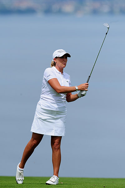 Cristie Kerr matched Gustafson's 67 to move to 11 under for the tournament, just one shot back from the lead.