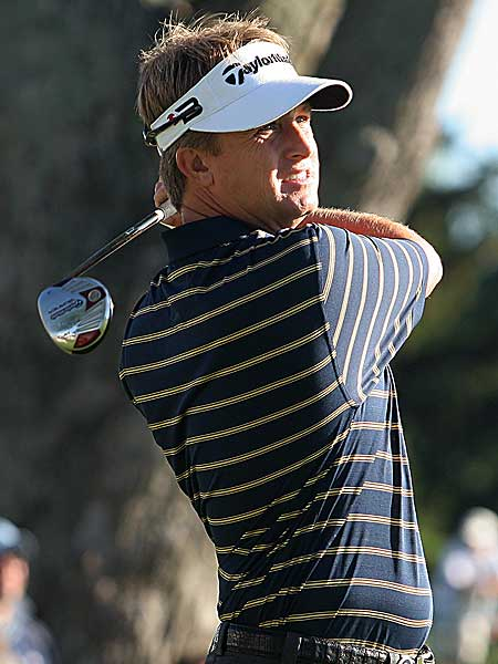David Toms, winner of the 2001 PGA Championship, moved into a tie for fifth after shooting 69.