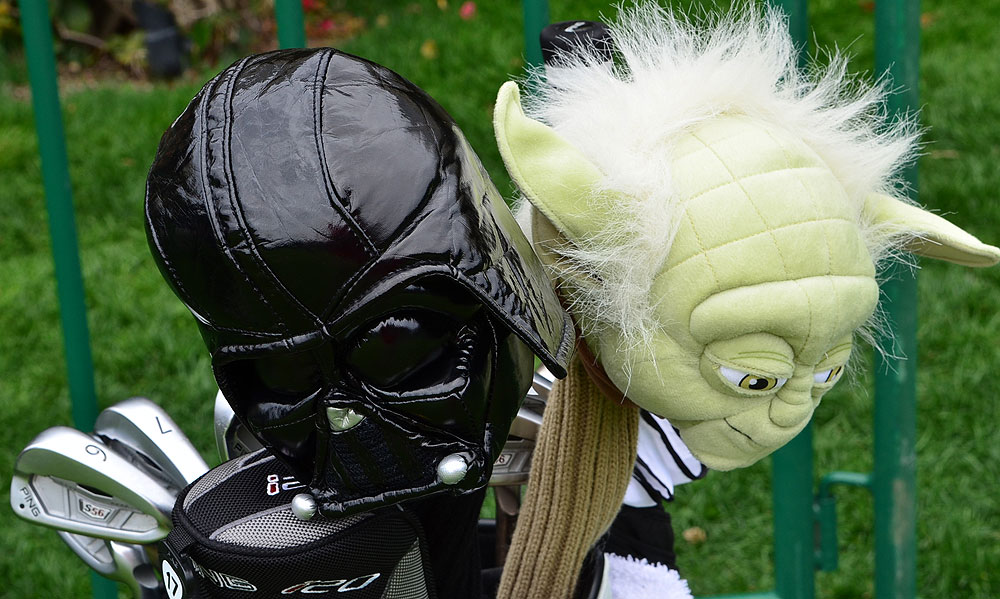 Darth Vader and Yoda watch over Daniel Chopra's Ping S56 irons.