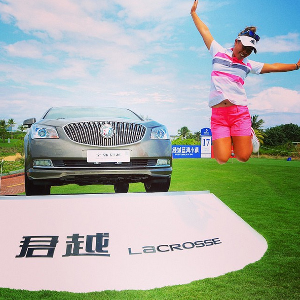 @lpga_tour Three days after her 22nd birthday, @daniellekang won a new Buick Lacrosse w a hole-in-one on the 17th hole #bluebaylpga #congrats #projumper