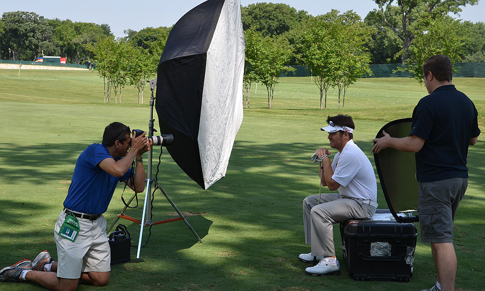Louis Oosthuizen got his portrait taken by photographer Darren Carroll for a future Sports Illustrated story.