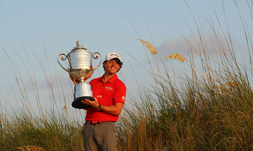 Rory McIlroy set a new PGA Championship record with his eight-shot runaway win at the Ocean Course on Kiawah Island. Here are some of the most memorable routs in the history of major championship golf.