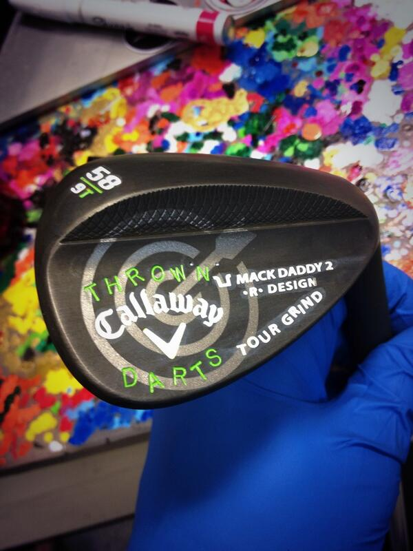 Callaway club builder Anthony Taranto built this Callaway Mack Daddy 2.