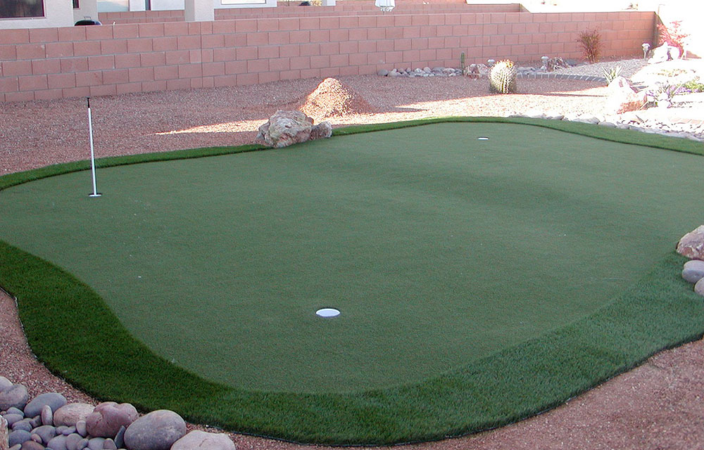 Dave Pelz Synlawn Artificial Putting Green                       $1,079-$3,149, pelzgolf.com                       Available in four sizes, the panels of this practice green snap together like a giant jigsaw puzzle to create an artificial putting surface that you can practice on year-round.