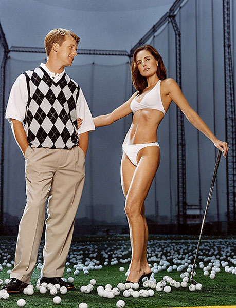 David Toms and his wife Sonya appeared in the 2003 issue. They were photographed at The Golf Club at Chelsea Piers in New York City.