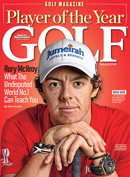 DECEMBER For the second year in a row, Rory McIlroy was named Golf Magazine's Player of the Year.