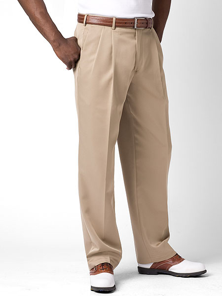 Dockers Championship Pleated Pants                       $80, dockersstore.com                       With added room in the seat and thigh, wrinkle- and fade-resistance, and a waistband that is designed to stretch an extra inch, these Dockers could be your favorite golf pants for years to come. Made from 100 percent polyester, they are designed to move and stretch as you bend and swing. Complete Holiday Gift Guide