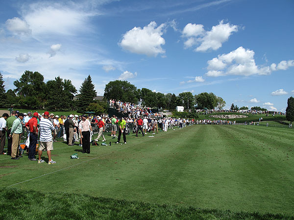GOLF.com was on the range Monday as the best players in the world fine-tuned their games and prepared for the season's final major—the 91st PGA Championship at Hazeltine National Golf Club.