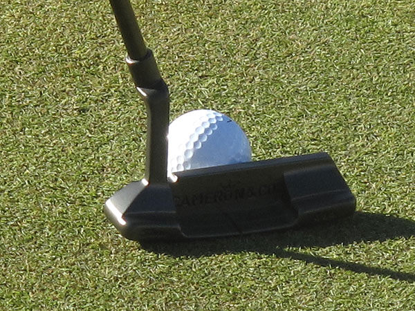 Dustin Johnson switched putters before the start of the Masters, choosing to go with an all-black, prototype Scotty Cameron for Titleist Newport known as a Jetsetter.