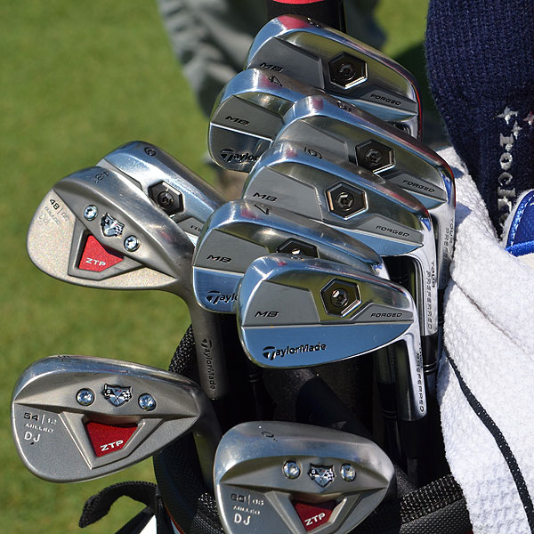 Dustin Johnson began using TaylorMade's new Forged MB irons at the beginning of the 2011 season.