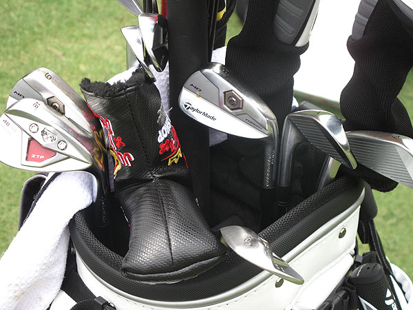 Dustin Johnson has been playing TaylorMade's Forged MB irons this season.