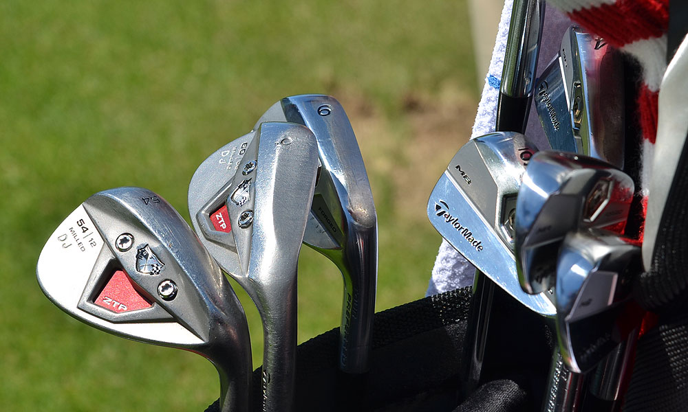 These are the TaylorMade Forged Tour Preferred MB irons and TP w/xFT wedges Dustin Johnson used to win the FedEx St. Jude Classic in Memphis last week.