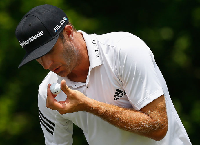 Dustin Johnson faded to the middle of the pack with a third-round 74.
