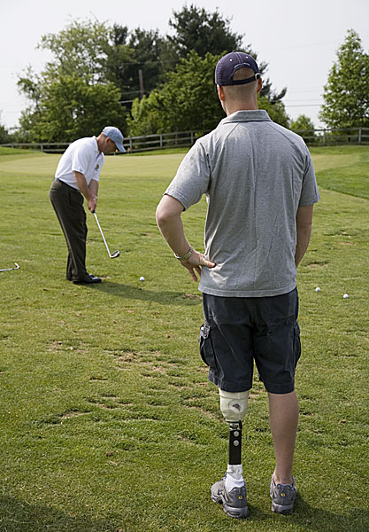 "The Drill Sergeant                     JIM ESTES, 43                     Giving disabled Iraq War veterans something to swing about                     Golfsalute.org                                                                                    ""I played the Nationwide Tour, and I teach here [as                     director of instruction] at Olney Golf Park, in Olney, Maryland. But the thrill I get teaching war veterans is like nothing else. We do weekly clinics. I've worked                     with more than 300 soldiers in three years. The greatest gift you can give is to sacrifice yourself for your country, so when I saw these kids come home with their                     heads split open, eyes blown out, I felt a call. These guys have gone through real trauma, and golf is like therapy, an outlet. Dave Klatt, an army sergeant, had shrapnel                     in both arms and wrists. He couldn't cock his wrists. He starts hitting 20-yard shots. Then he had a breakthrough and hit a barrage of 200-yard drives, and ran                     up and down the range, screaming, 'Boo-yah! Watch this!' [Laughs] Another soldier named Dave Cook has a prosthetic right leg. He was a 12-handicap before Iraq.                     Now he's an 8. His swing is more balanced. He says to me, 'If I'd known I'd improve this much, I would have gotten my other leg blown off.'""                                                               Help us choose the 2008 Innovators!                                          Update: The latest from Jim Estes"