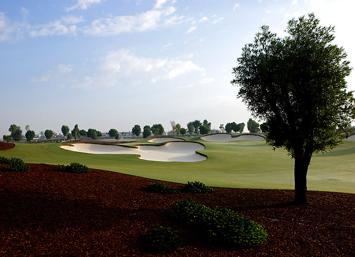 "8. Eco-Signature at Jumeirah Golf Estates (Earth) in Dubai, UAE: Site of the recent DP World Tour Championship, this desert oasis stretches 7,675 yards across native sands, while gussied up with trees, shrubs, brilliant white bunkers and barkmulched landscape areas. Norman calls the final watery four holes, ""the most challenging mile in golf,"" though it didn't bother Henrik Stenson much. At the 620-yard, par-5 18th that's bisected lengthwise by a creek, Stenson hammered a 3-wood second to two feet to cement his 2013 victory with a final-hole eagle."