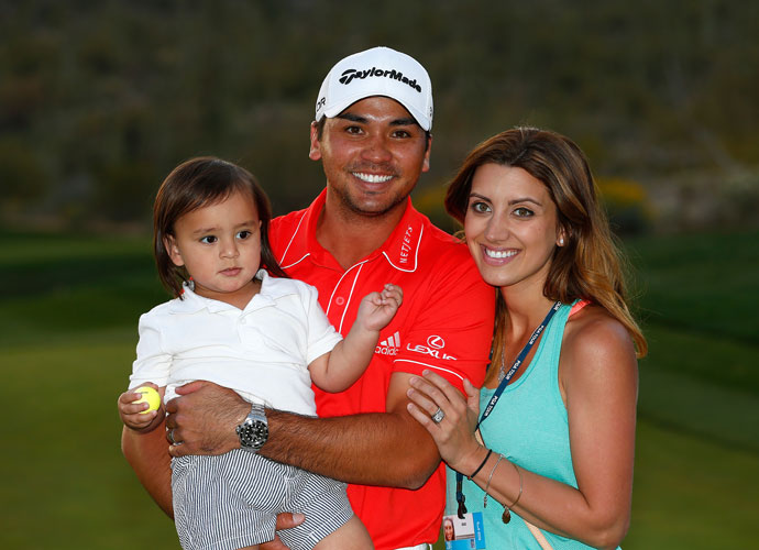 Dash, Jason and Ellie Day celebrate the Match Play victory.