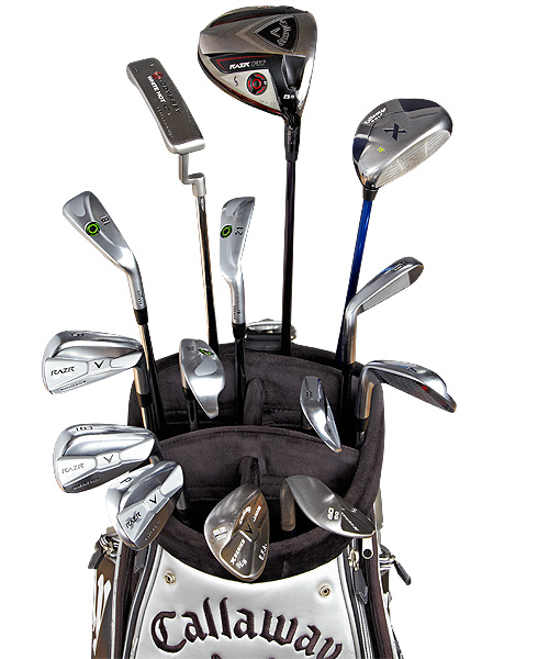 These are the clubs that Ernie Els used to win the 2012 British Open at Royal Lytham and St. Annes.