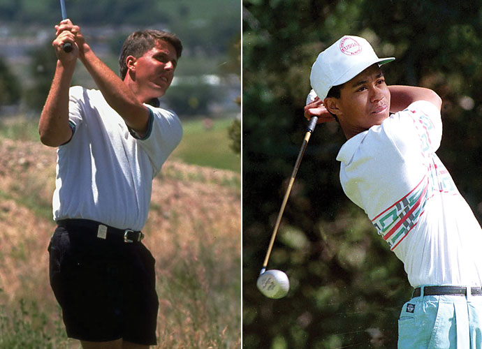 1992                     Phil Mickelson graduates from Arizona State after winning three NCAA individual championships, and a PGA Tour event in 1991. Tiger Woods becomes the first multiple winner of the U.S. Junior Amateur after defending his title.                                           World News: Bill Clinton is elected president.