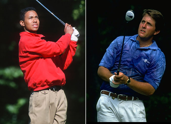 1994                       Phil Mickelson wins the Mercedes Championship, and Tiger Woods becomes the youngest winner of the U.S. Amateur championship, the same year he graduates high school.                                               World News: In June, O.J. Simpson is arrested on murder charges.