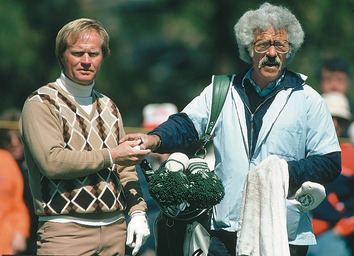 Angelo Argea                     Inducted to the Caddie Hall of Fame in 1999, Argea will be remembered for two things: 1. his tenure as Jack Nicklaus' caddie and 2. his gray, bushy afro. Argea aided Nicklaus throughout more than 40 of his 73 victories for over 20 years on the job. To some, however, it didn't seem like much of a job since Argea reportedly didn't read putts, step off yardages or select clubs for Nicklaus. Carrying the bag and providing the right motivation was plenty.