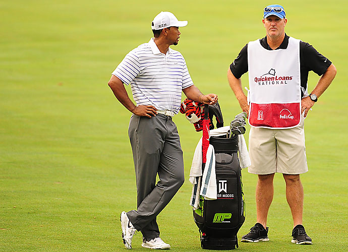 Joe LaCava                     LaCava was hired to be Tiger Woods' third full-time caddie in 2011 and left Dustin Johnson's bag for the job. LaCava has also worked for Fred Couples, another highly profitable bag. LaCava and Woods have eight PGA Tour wins together, but still no major victories.