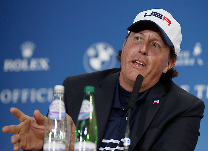 The most recent moment came at the 2014 Ryder Cup, where Mickelson was openly critical of captain Tom Watson's management within the captain's role. Mickelson indirectly criticized Watson by noting everything that was different from the 2014 captain compared to the last victorious American captain, Paul Azinger.