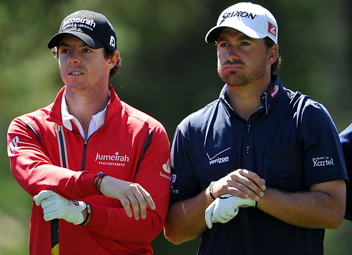 """But that wasn't the full Ryder Cup for Mickelson. Phil got things underway earlier in the weekend taking a jab at Team Europe players Rory McIlroy and Graeme McDowell. Lefty was asked about the cohesiveness of the American squad when compared to the Europeans, replying, """"Well, not only are we able to play together, we also don't litigate against each other and that's a real plus, I feel, heading into this week,"""" referring to McIlroy's suing McDowell's management company, Horizon Sports."""