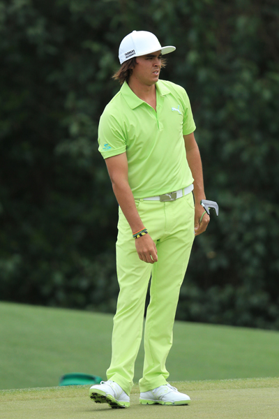 WORST: RICKIE FOWLER                     I normally love Fowler's bright ensembles, but I just can't get behind a monochrome look in this shade of green. A white polo or pants would make this universally wearable, but with a top and bottom in the same color, the look is just a tad overboard.