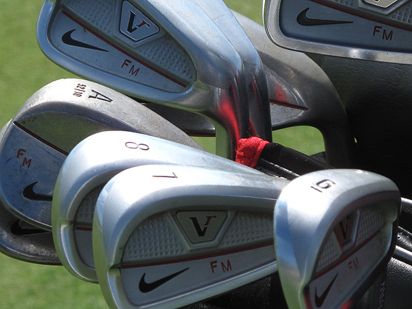 uses Nike's Victory Red Split Cavity irons.